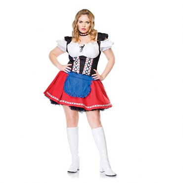 Plus Size Frisky Frauline Costume