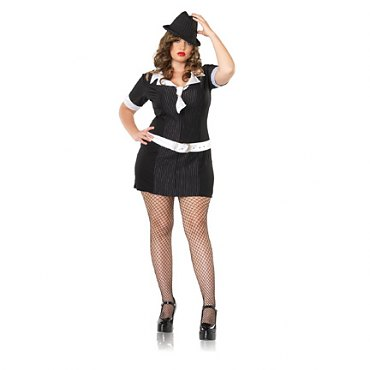 Plus Size Gangster Moll Dress Costume