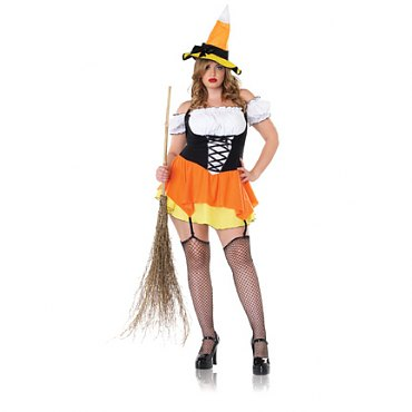 Plus Size Kandy Korn Witch Costume