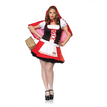 Plus Size Lil Miss Red Riding Hood Costume