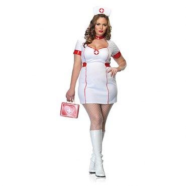 Plus Size Private Nurse Costume