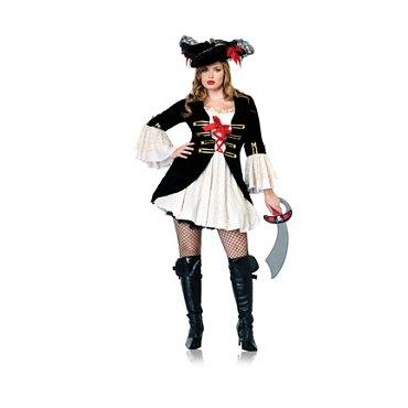 Plus Size Captain Swashbuckler Costume
