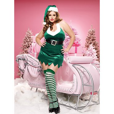 Plus Size Christmas Elf Costume