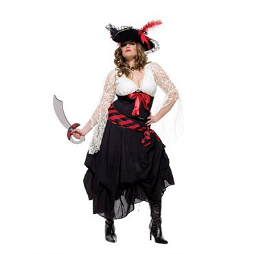 Plus Size Gold Doubloon Pirate Costume