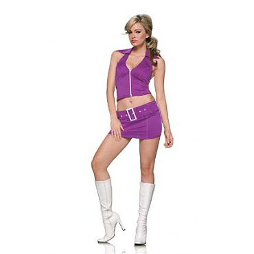 Purple Soda Pop Girl Costume