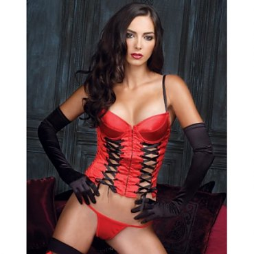 Push Up Double Corsetted Front Bustier