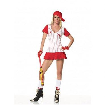 Red Baseball Girl Costume