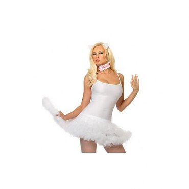 Anime Kitty Costume Kit - White/Pink