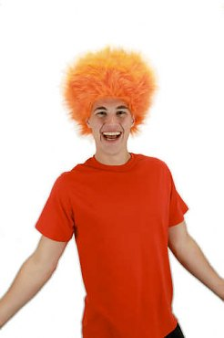 Orange Fuzzy Wig