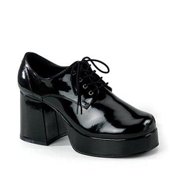 Mens Black Patent Disco Shoes