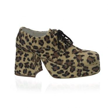 Mens Cheetah Disco Shoes