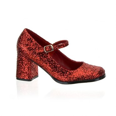 Red Glitter Mary Jane Shoes