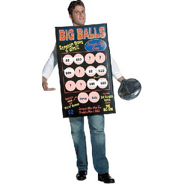 Big Balls Scratch Off Ticket Costume