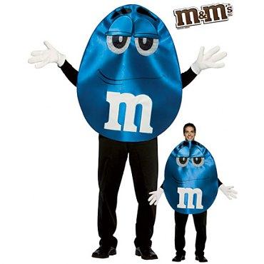 Deluxe Blue M & M Costume