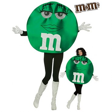 Deluxe Green M & M Costume