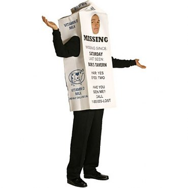Milk Carton Costume