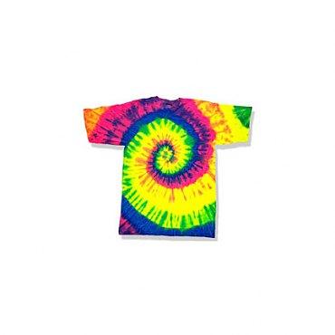 Neon Rainbow Tie-Dye T-Shirt