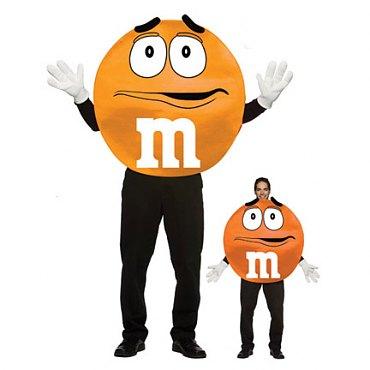 Deluxe Orange M & M Costume