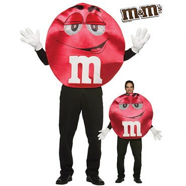Deluxe Red M & M Costume