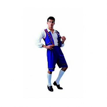 Blue Bavarian Man Costume