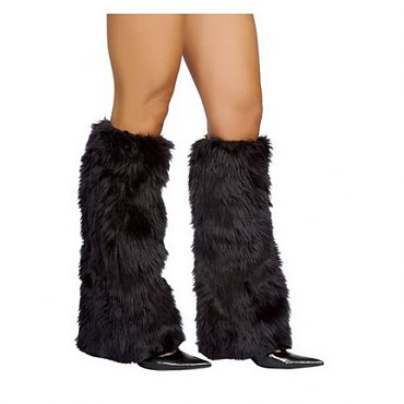 Black Fur Boot Covers