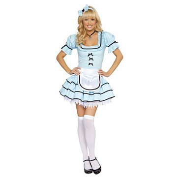 Looking Glass Alice in Wonderland Costume