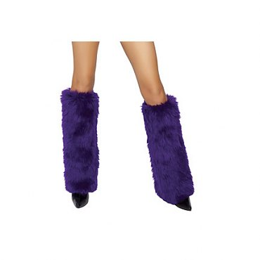 Purple Fur Boot Covers