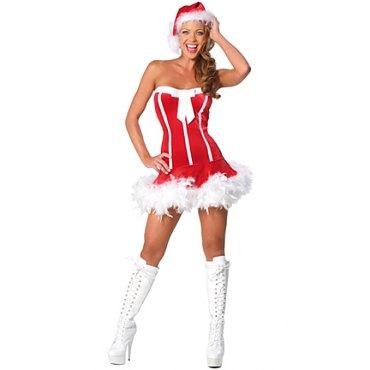 Strapless Santa Costume