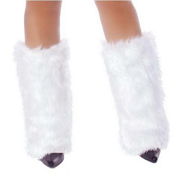 White Fur Boot Covers