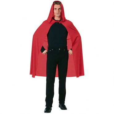 Red Hooded Cape - 45 inch