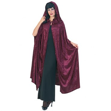 Gothic Hooded Velvet Cloak - 63""