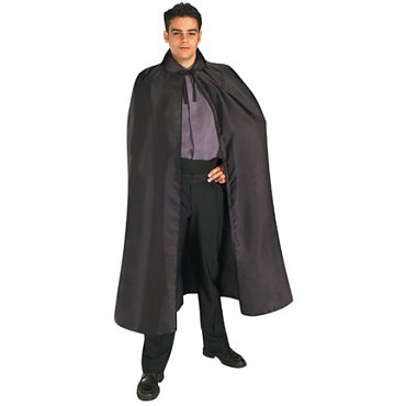 Black Satin Cape  - Full Length