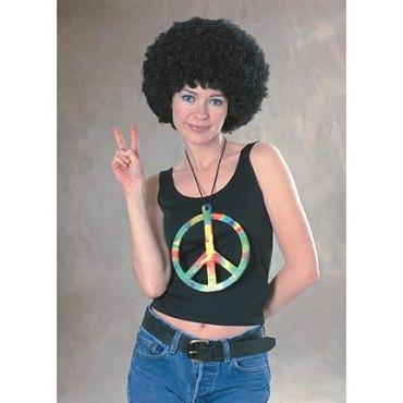 Oversized Groovy Peace Symbol Necklace