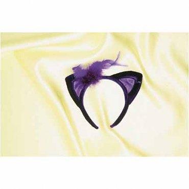 Purple Velvet Cat Ears