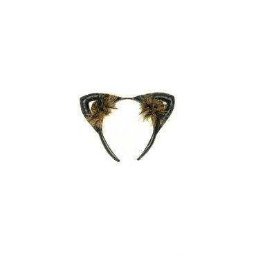 Faux Leather Leopard Cat Ears