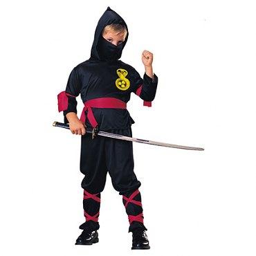 Childs Black Ninja Costume