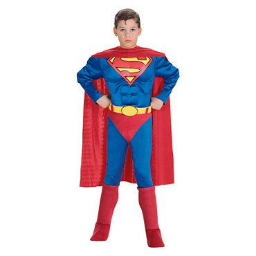 Deluxe Muscle Chest Childs Superman Costume