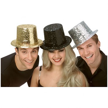 Glitter Top Hats