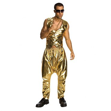 MC Rapper Gold Pants