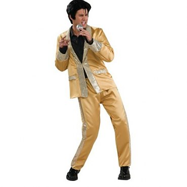 Gold Satin Elvis Costume
