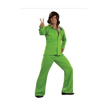 Lime Leisure Suit Deluxe Adult Costume