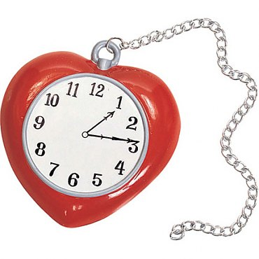 Wizard of Oz Tin Mans Heart Clock