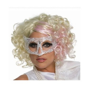 Lady Gaga Curly Blonde/Pink Licensed Wig