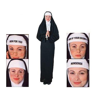 Nun Costume with 4 in 1 Novelty Headdress