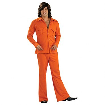 Orange Leisure Suit Deluxe Adult Costume
