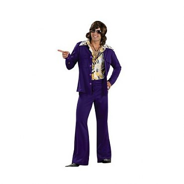 Purple Leisure Suit Deluxe Adult Costume