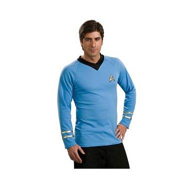 Star Trek Classic Deluxe Blue Shirt