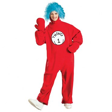 Cat In The Hat Thing 1 Adult Costume