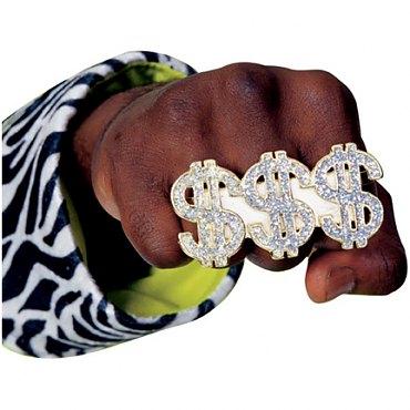 Triple Dollar Sign Ring