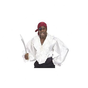 White Satin Pirate Shirt